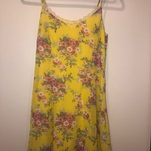 Lucca Couture Floral Yellow Dress